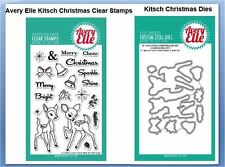 Avery Elle Photopolymer Clear Stamp & Die Combo KITSCH CHRISTMAS ~ST/D-16-34