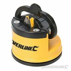 Silverline Knife Sharpener with Suction Base 60 x 65 x 60mm 270466