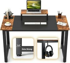 """CubiCubi Computer Office Small Desk 47"""", Study Writing Table, Modern"""