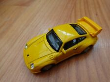 1/72 CARARAMA CLASSIC - PORSCHE 911GT YELLOW DIECAST MODEL CAR