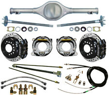 CURRIE 64-66 MUSTANG REAR END & WILWOOD DRILLED DISC BRAKES,BLACK CALIPERS,LINES