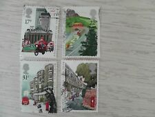 GB 1985 350 years of Royal Mail Service used set of 4 stamps 17p 22p 31p 34p