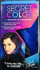 Secret Color Headband Hair Extensions by Demi Lovato Blue As Seen On TV New