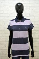 TOMMY HILFIGER Maglia Polo Donna Taglia M Maglietta Manica Corta Shirt Women