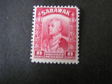 *SARAWAK, SCOTT # 119, 8c, VALUE 1934-41 SIR CHARLES BROOKE UNWMKED ISSUE MLH