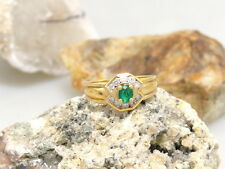 Exclusive Ring with Emerald & 0,20ct. Diamonds 750er Gold
