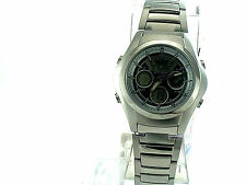 CASIO Edifice Ana&dig Mens Watch EFA114D-7A Stainless Steel Band Round Dial