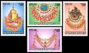 2007. Uzbekistan. Jewelry. Set. MNH. Sc.527-530