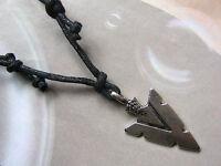 Native American Style Arrow Head Charm (30 x 15mm) Pendant Necklace Tribal, Surf