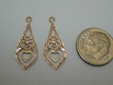 Earring Jackets S358 Made In Usa Solid 14K Pink Rose Gold Dangle