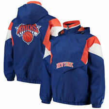 Starter New York Knicks Blue Breakaway Hooded Half-Zip Pullover Jacket Size XL