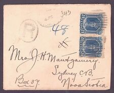 NEWFOUNDLAND NOVA SCOTIA REGISTERED 1896