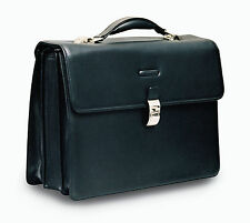 Piquadro Modus Black Briefcase w/ 3 gussets, notebook compartmt CA1228MO/N