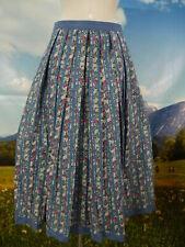 Trachtenrock blau Baumwolle Streifen Blumenmuster schöne Trachten Rock Gr.46