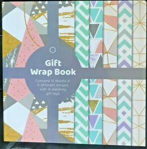 Luxury Gift Wrap Christmas Wrapping Paper Book 12 Sheets - Free Fast P+P √