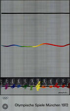 Olimpiadi 1972 Monaco arte-soggetto manifesto di Shusaku Arakawa OLIMPIADI