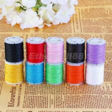 10 Rolls Waxed Cotton Fabric String Thread Cord Rope Beading Jewelry Crafts