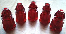 "5 PC New Pinball Machine Red Plastic Jewelled Bumper Post Williams Bally 1-1/16"""