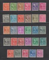 US,803-831,MNH,F-VF,PREXIE,1938 PRESIDENTIAL SERIES MINT NH,OG