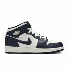 Nike Air Jordan Retro 1 Mid Obsidian Navy Blue White Metallic Gold Mens & GS 174