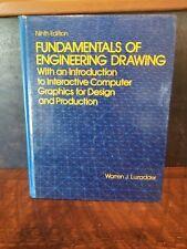 FUNDAMENTALS OF ENGINEERING DRAWING WARREN LUZADDER NINTH EDITION 1986