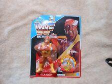 WWF Hulk Hogan Figure W/ Hulkster Hug Wrestling New ON Card Vintage Hasbro 1990