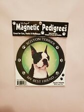 Pet Gifts Usa Magnetic Pedigrees Dog Magnet - Boston Terrier My Best Friend