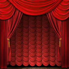 8X8FT Vinyl Backdrops Red curtain stage Photography Photo Studio Background TA09