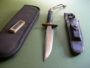 """RANDALL MADE 7"""" FIGHTING KNIFE / LATE 40's / LEATHER / RIVETED HEISER + STONE"""