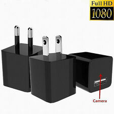 1080P USB MINI SPY HIDDEN WALL CHARGER CAMERA POWER ADAPTER PIUG CAM DC 5V 1A