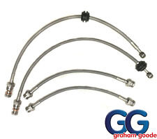 Stainless Steel Braided Hose Brake Line Kit | Fits Fiesta Zetec S1600 1.6 mk7