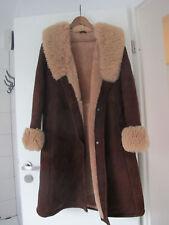 Ledermantel Gr 38 40 42 Damen Mantel Winterjacke Jacke Blogger Lammfellmantel