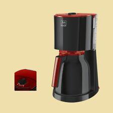 10 T Kaffeemaschine Kaffeeautomat Filterkaffeemaschine Kaffebereiter schwarz-rot