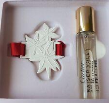 CARTIER Baiser Vole Fraiche Parfum Spray 0.3 oz EDP & lily Ceramic Ornament