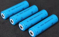 4x Hochleistung Power Akku 18650 Lithium Ionen mit je 6800mAh 4.2V Li-ion Accu
