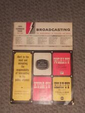 Broadcasting - The Business weekly of Tv and Radio - am fm electronic video 1964