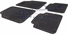 4 Piece Heavy Duty Black Rubber Car Mat Set Non Slip SAAB 9-3 2003>