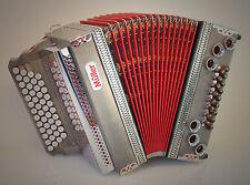 Mieten - Steirische Harmonika >Müller< Enzian< 4-reihig G-C-F-B