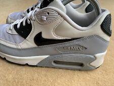 Nike Air Max 90 running trainers, size 6 UK 40 EU 'White/grey/ Blue Vgc