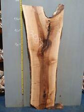 Waney Edge Live Edge Walnut Slab Board Kiln Dried Hardwood 1440 x 370-520 x 50mm