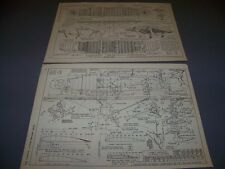 VINTAGE..CURTISS HAWK F6C SERIES..WING STRUCTURE/DETAILS...RARE! (401E)