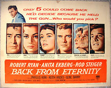 """US Half Sheet Movie Poster 22""""x28"""" BACK FROM ETERNITY Style A Film 1956 F/VF"""