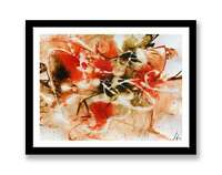 Brown Red Abstract - print of abstract painting unique gift  ID : 1283