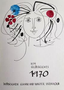 """Womacka, Walter(1925 Obergeorgenthal-2010 Berlin)""""Mädchenkopf mit Blumen im Haar"""