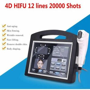 Portable Ultrasounic 4D HIFU Machine 12 Lines SMAS Face Skin Lift Body Slimming
