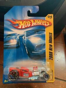 2008 Hot Wheels New Models Ratbomb #4 Red