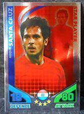 Roque Santa Cruz Paraguay Star Player football trading card Topps 2010 World Cup