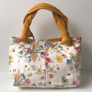 Ceconi Piero Mini Floral Leather Tote Handbag