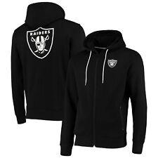 Oakland Raiders Split Graphic Full Zip Hoodie - Black - Mens