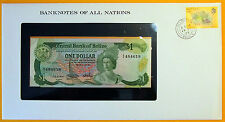 Belize - 1983 - $1 - Uncirculated Banknote enclosed in stamped envelope.